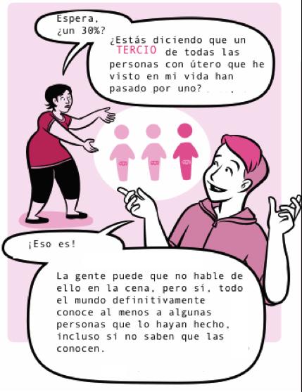 """Este webcómic sobre el aborto se refiere a las mujeres como """"personas con útero"""""""